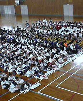 スポーツ少年団の入団式
