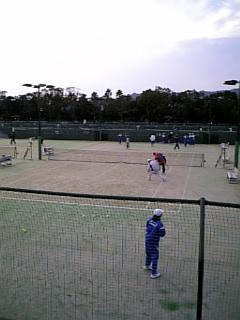 中学校のテニス大会